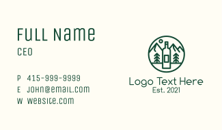 Outdoor Camping Wine Business Card