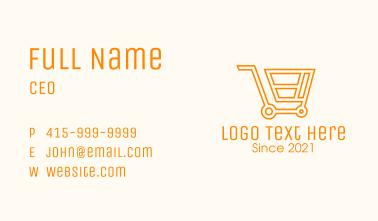 Market Grocery Cart Business Card