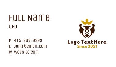 Royal Bear Mascot Business Card