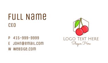 Fresh Cherry Fruit Business Card