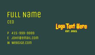 Vintage Horror Wordmark Business Card
