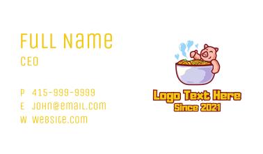 Delicious Pork Noodles Business Card