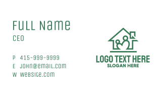 Green Home Parenting Business Card