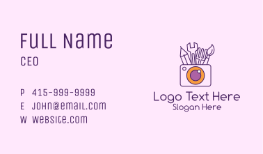 Product Photography Business Card