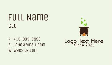 Organic Cooking Pot  Business Card