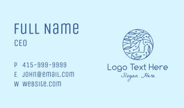 Blue Ocean Goddess Business Card