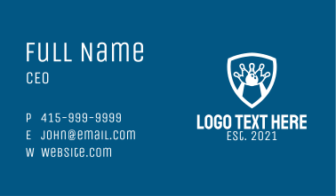 White Bowling Emblem  Business Card