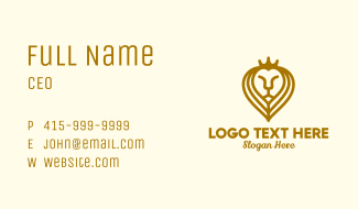 Lion King Crown Business Card