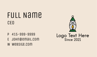 Candle Lamp Lighting Business Card