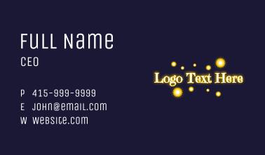 Magical Lights Wordmark Business Card