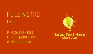 Lightbulb Hot Air Balloon  Business Card