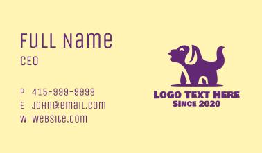 Barking Pet Dog Business Card