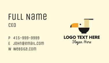 Toucan Noodle Bowl Business Card