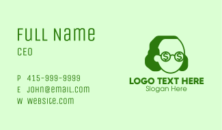 Dollar Sign Person  Business Card