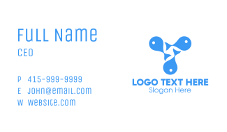 Blue Fishes  Business Card