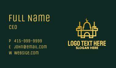 Geometric Golden Mosque Business Card