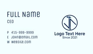 Hammer Nail Badge Business Card