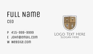 Wine Business Shield Business Card