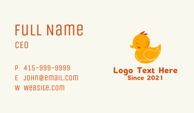 Rubber Duck Toy Business Card