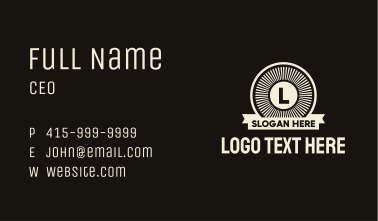 Generic Sunburst Letter Badge Business Card