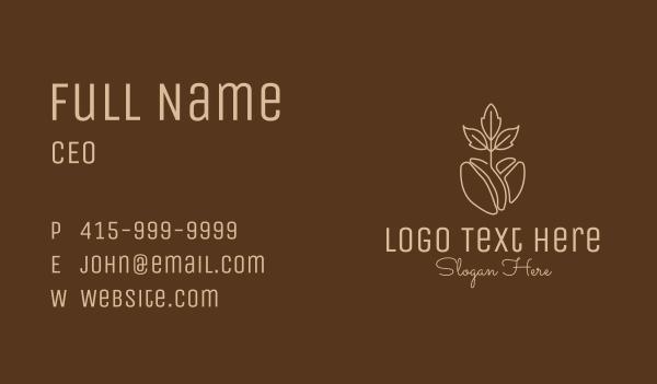 brewed - Organic Coffee Bean Business card horizontal design
