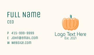 Pumpkin Squash Vegetable Business Card