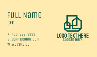 Green Building Complex Business Card
