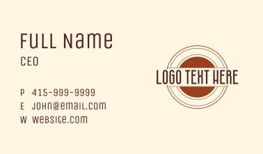 Shooting Target Wordmark  Business Card