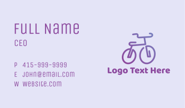 Purple Bicycle  Business Card