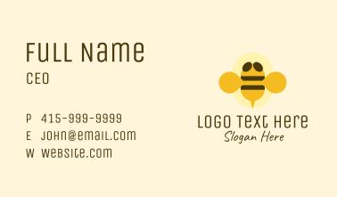 Flying Yellow Bumblebee Business Card