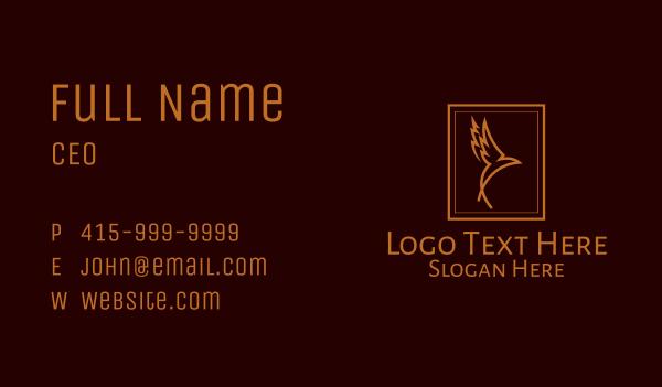 bronze - Bronze Flying Bird  Business card horizontal design