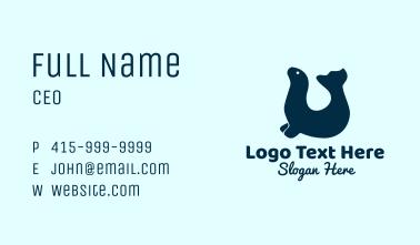 Blue Seal Animal  Business Card
