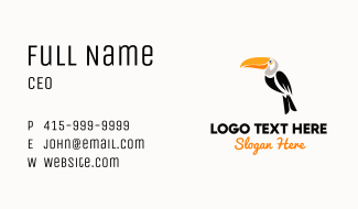 Perched Toucan Wildlife Center Business Card
