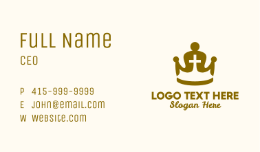 Gold Religious Crown  Business Card