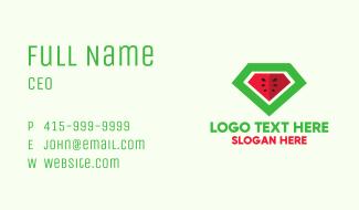 Watermelon Diamond Business Card