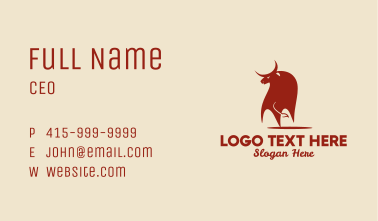 Red Bull Ox   Business Card