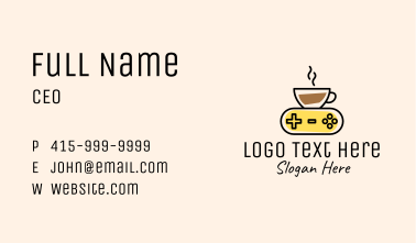 Coffee Game Console Business Card