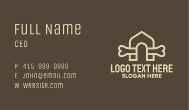 Bone Doghouse Kennel Business Card