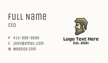 Geometric Man Profile Business Card