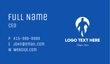 Bodybuilding Gym Location Pin Business Card