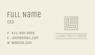 Sketchy Draft Lettermark Business Card