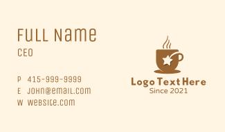 Hot Coffee Star Business Card