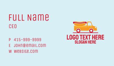 Hot Dog Food Truck Business Card