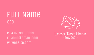 White Flower Woman Business Card