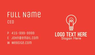 Light Bulb Price Tag Business Card