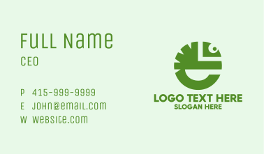 Letter E Lizard Business Card