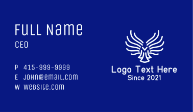 Angel Wing Outline Business Card