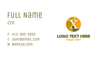 Colorful X Sun Business Card