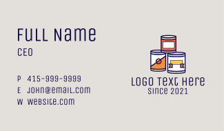 Canned Processed Food Business Card