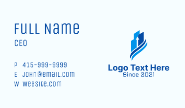Investment Building Arrow Business Card